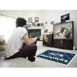 Click here to learn more about the Seattle Seahawks Rug 4''x6''.