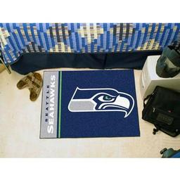"Click here to learn more about the Seattle Seahawks Uniform Inspired Starter Rug 20""x30""."