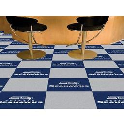 "Click here to learn more about the Seattle Seahawks Carpet Tiles 18""x18"" tiles."