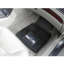 "Click here to learn more about the Seattle Seahawks Heavy Duty 2-Piece Vinyl Car Mats 17""x27""."