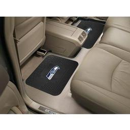 "Click here to learn more about the Seattle Seahawks Backseat Utility Mats 2 Pack 14""x17""."