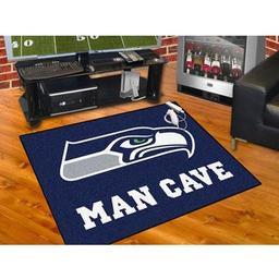 "Click here to learn more about the Seattle Seahawks Man Cave All-Star Mat 33.75""x42.5""."