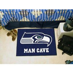 "Click here to learn more about the Seattle Seahawks Man Cave Starter Rug 19""x30""."