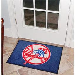 "Click here to learn more about the New York Yankees Starter Rug 20""x30""."
