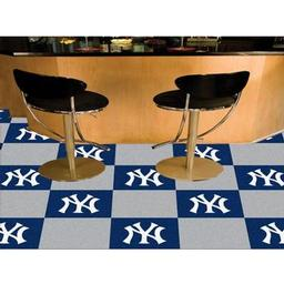 "Click here to learn more about the New York Yankees Carpet Tiles 18""x18"" tiles."