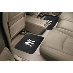 "Click here to learn more about the New York Yankees Backseat Utility Mats 2 Pack 14""x17""."
