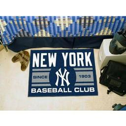 "Click here to learn more about the rk Yankees Baseball Club Starter Rug 19""x30""."