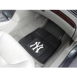 "Click here to learn more about the New York Yankees Heavy Duty 2-Piece Vinyl Car Mats 17""x27""."