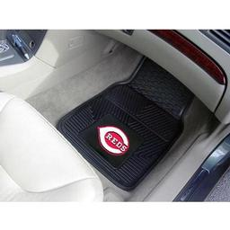 "Click here to learn more about the Cincinnati Reds Heavy Duty 2-Piece Vinyl Car Mats 17""x27""."