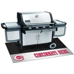 "Click here to learn more about the Cincinnati Reds Grill Mat 26""x42""."