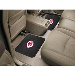 "Click here to learn more about the Cincinnati Reds Backseat Utility Mats 2 Pack 14""x17""."