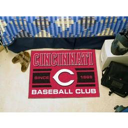 "Click here to learn more about the nati Reds Baseball Club Starter Rug 19""x30""."