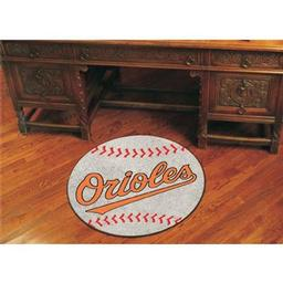 "Click here to learn more about the Baltimore Orioles Baseball Mat 27"" diameter."