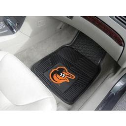 "Click here to learn more about the Baltimore Orioles Heavy Duty 2-Piece Vinyl Car Mats 17""x27""."