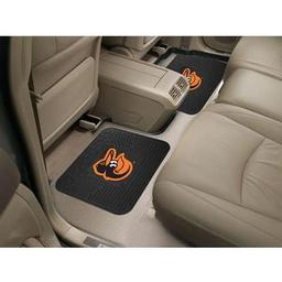 "Click here to learn more about the Baltimore Orioles Backseat Utility Mats 2 Pack 14""x17""."