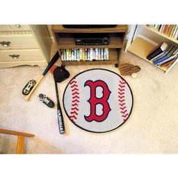 "Click here to learn more about the Boston Red Sox Baseball Mat 27"" diameter."