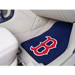"Click here to learn more about the Boston Red Sox 2-piece Carpeted Car Mats 17""x27""."