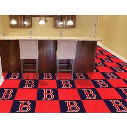 "Click here to learn more about the Boston Red Sox Carpet Tiles 18""x18"" tiles."