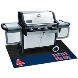 "Click here to learn more about the Boston Red Sox Grill Mat 26""x42""."