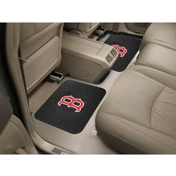 "Click here to learn more about the Boston Red Sox Backseat Utility Mats 2 Pack 14""x17""."