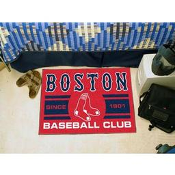 "Click here to learn more about the Red Sox Baseball Club Starter Rug 19""x30""."