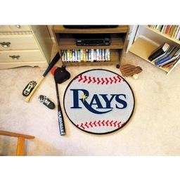 "Click here to learn more about the Tampa Bay Rays Baseball Mat 27"" diameter."