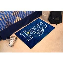 "Click here to learn more about the Tampa Bay Rays Starter Rug 20""x30""."