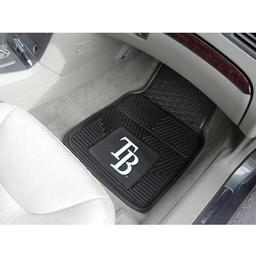 "Click here to learn more about the Tampa Bay Rays Heavy Duty 2-Piece Vinyl Car Mats 17""x27""."