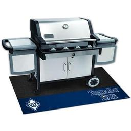 "Click here to learn more about the Tampa Bay Rays Grill Mat 26""x42""."