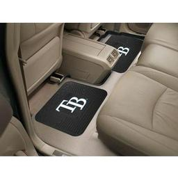 "Click here to learn more about the Tampa Bay Rays Backseat Utility Mats 2 Pack 14""x17""."