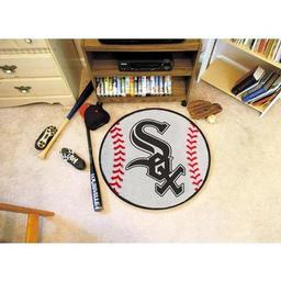 "Click here to learn more about the Chicago White Sox Baseball Mat 27"" diameter."