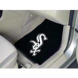 "Click here to learn more about the Chicago White Sox 2-piece Carpeted Car Mats 17""x27""."