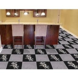 "Click here to learn more about the Chicago White Sox Carpet Tiles 18""x18"" tiles."