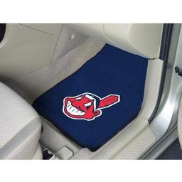 "Click here to learn more about the Cleveland Indians 2-piece Carpeted Car Mats 17""x27""."