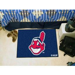 "Click here to learn more about the Cleveland Indians Starter Rug 20""x30""."