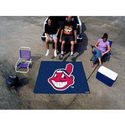 Click here to learn more about the Cleveland Indians Tailgater Rug 5''x6''.