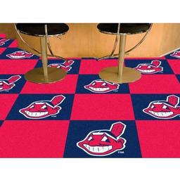 "Click here to learn more about the Cleveland Indians Carpet Tiles 18""x18"" tiles."