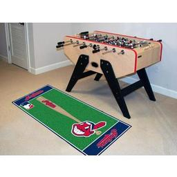 "Click here to learn more about the Cleveland Indians Baseball Runner 30""x72""."