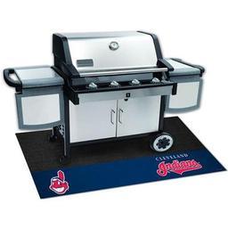 "Click here to learn more about the Cleveland Indians Grill Mat 26""x42""."