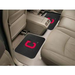 "Click here to learn more about the Cleveland Indians Backseat Utility Mats 2 Pack 14""x17""."