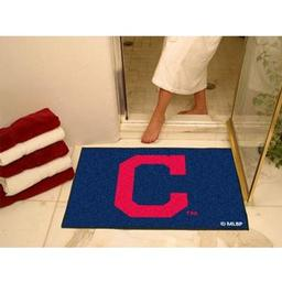 "Click here to learn more about the Cleveland Indians ""Block-C"" All-Star Mat 33.75""x42.5""."