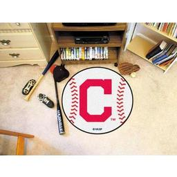 "Click here to learn more about the Cleveland Indians ""Block-C"" Baseball Mat 27"" diameter."