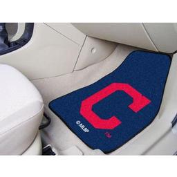 "Click here to learn more about the Cleveland Indians ""Block-C"" 2-piece Carpeted Car Mats 17""x27""."