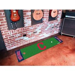 "Click here to learn more about the Cleveland Indians ""Block-C"" Putting Green Runner."