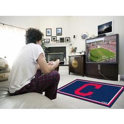 "Click here to learn more about the Cleveland Indians ""Block-C"" Rug 4''x6''."