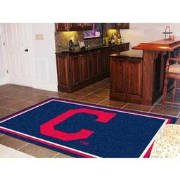 "Click here to learn more about the Cleveland Indians ""Block-C"" Rug 5''x8''."