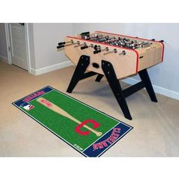 "Click here to learn more about the Cleveland Indians ""Block-C"" Baseball Runner 30""x72""."