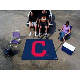 "Click here to learn more about the Cleveland Indians ""Block-C"" Tailgater Rug 5''x6''."