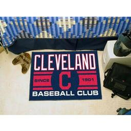 "Click here to learn more about the and Indians Baseball Club Starter Rug 19""x30""."