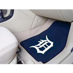 "Click here to learn more about the Detroit Tigers 2-piece Carpeted Car Mats 17""x27""."